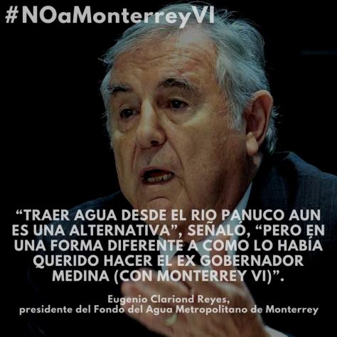 Eugenio Clariond Reyes - Agua del Río Pánuco es una alternativa, dice